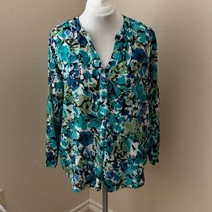 Philosophy V-Neck Long Sleeve Blouse, Size 2x